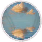 Happy Little Cloud Round Beach Towel
