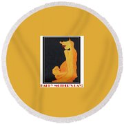 Happy Mother's Day 11 Round Beach Towel