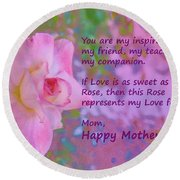 Happy Mothers Day 2 Round Beach Towel