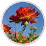 Happy Mother's Day Flowers Round Beach Towel