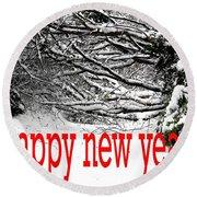 Happy New Year 33 Round Beach Towel
