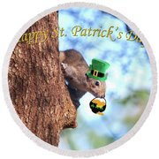 Happy St. Pat's Day Card Round Beach Towel