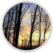Happy Trails Sunset Round Beach Towel