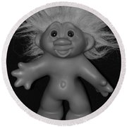 Happy Troll Round Beach Towel