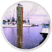 Harbor Master Round Beach Towel