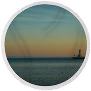 Harbour Lights Round Beach Towel