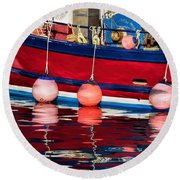 Harbour Reflections 5 - June 2015 Round Beach Towel