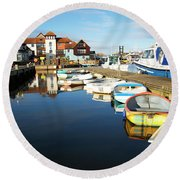 Harbour Side  Round Beach Towel