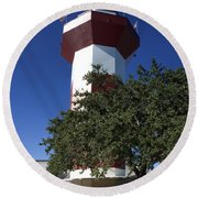 Harbourtown Lighthouse Round Beach Towel