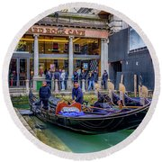 Hard Rock Cafe Venice Gondolas_dsc1294_02282017 Round Beach Towel