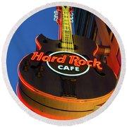 Hard Rock Guitar Detroit Round Beach Towel
