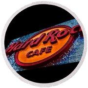 Hard Rock Hollywood Round Beach Towel