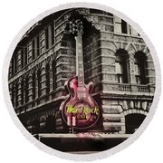 Hard Rock Philly Round Beach Towel