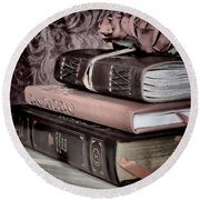 Hardcover Books Round Beach Towel
