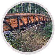 Hardy Creek Bridge Round Beach Towel