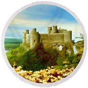 Harlech Castle Round Beach Towel