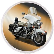 Harley Classic Gold Round Beach Towel