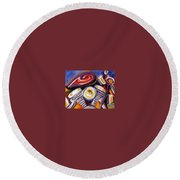 Harley Closeup Round Beach Towel