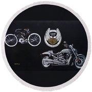 Harley Davidson 105th Anniversary Round Beach Towel