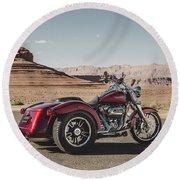 Harley-davidson Freewheeler Round Beach Towel