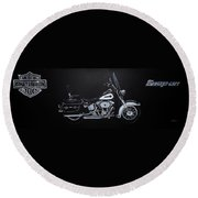 Harley Davidson Snap-on Round Beach Towel