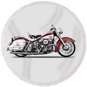 Harley Model Fl 1960 Round Beach Towel
