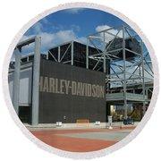 Harley Museum  Round Beach Towel