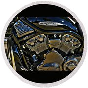 Harley Power Plant Round Beach Towel