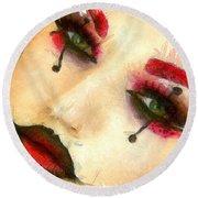 Harley Quinn Face - Da Round Beach Towel