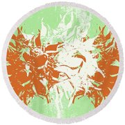 Harmony Round Beach Towel by Linda Woods