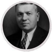 Harold Urey, American Chemist Round Beach Towel