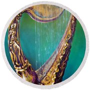 Harp Round Beach Towel