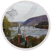 Harpers Ferry - Shenandoah Meets The Potomac Round Beach Towel