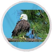 Harriet One More Look  Round Beach Towel