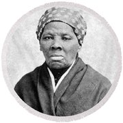 Harriet Tubman 1823-1913.  To License For Professional Use Visit Granger.com Round Beach Towel