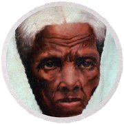 Harriet Tubman, African-american Round Beach Towel by Photo Researchers