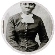 Harriet Tubman, American Abolitionist Round Beach Towel by Photo Researchers