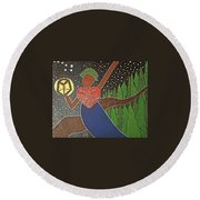 Harriet Tubman Round Beach Towel