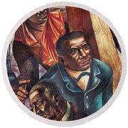 Harriet Tubman, Booker Washington Round Beach Towel