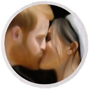 Harry And Meghan Round Beach Towel