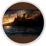 Harry Potter And The Deathly Hallows Part I 2010  Round Beach Towel