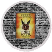 Harry Potter London Theatre Poster Round Beach Towel