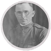 Harry Truman During World War One Round Beach Towel by War Is Hell Store