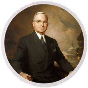 Harry Truman Round Beach Towel