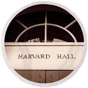 Harvard Hall #2 Round Beach Towel