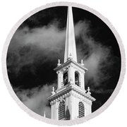 Harvard Memorial Church Steeple Round Beach Towel