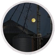 Harvest Moon Round Beach Towel