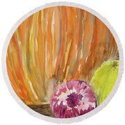 Harvest Still Life Round Beach Towel
