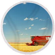 Harvest Time Round Beach Towel