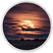 Harvestmoon Round Beach Towel